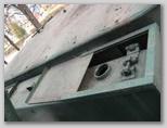 Топливный бак трактора СТЗ-5, защитный щиток в открытом положении