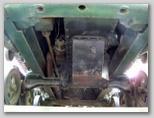 Крепление силового агрегата к раме трактора