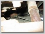 Вид снизу на крыльчатку насоса системы охлаждения двигателя 1МА