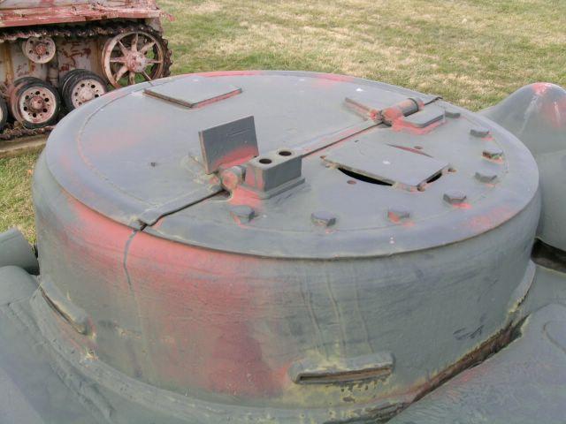 Командирская башенка крупным планом