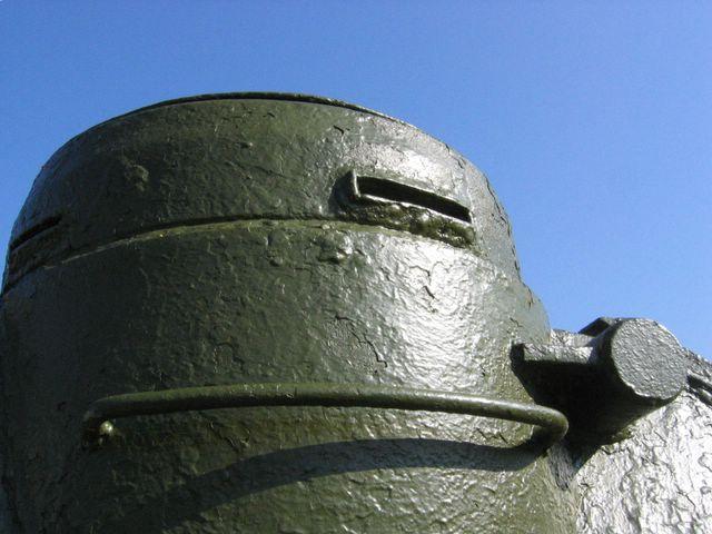 Командирская башенка и антенный ввод