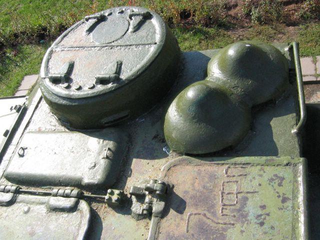 Правая часть  крыши боевого отделения