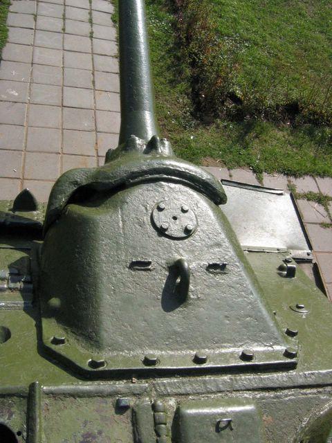 Крепление маски 100-мм пушки Д-10С