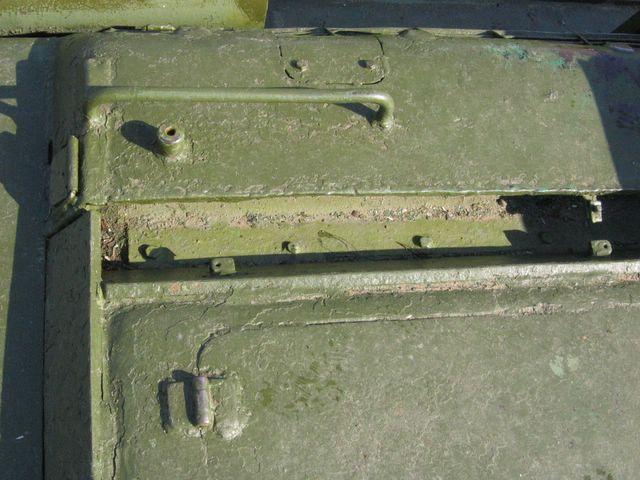 Левый продольный лист крыши МТО