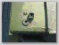 Результат послевоенной модернизации - основание розетки телефона для связи с десантом и отверстие для установки габаритного огня