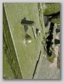 Кронштейн второй фары и вывод электропроводки к ней. Результат послевоенной модернизации