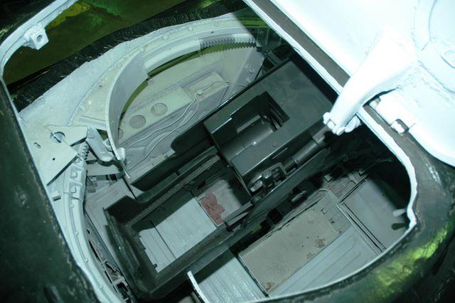 Вид сверху на казённик орудия Ф-34