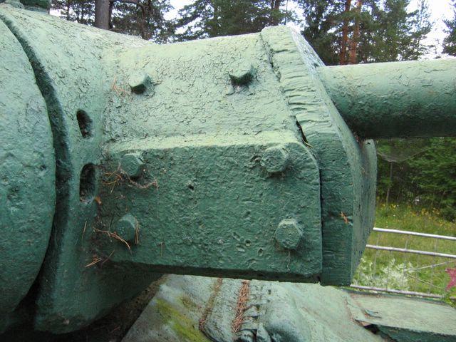 Бронировка противооткатных устройств орудия Ф-34, вид справа
