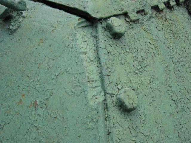 Фрагмент стыка левого подкрылка и кормового бронелиста