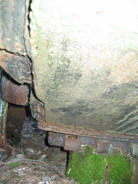 Фрагмент нижнего лобового листа