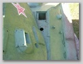 Вид сверху на смотровой прибор и накладку закрывающую стык бронедеталей
