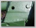 Вид слева на маску пушки, крупный план