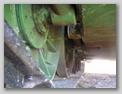 Вид на внутреннюю сторону катков и днище танка