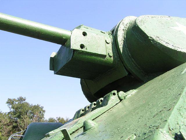 Маска орудия и передняя часть башни крупным планом