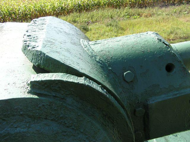 Верхняя часть маски пушки, вид справа