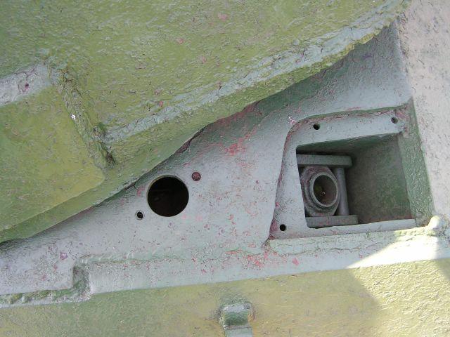 Шип-паз крепления подбашенного листа к подкрылку