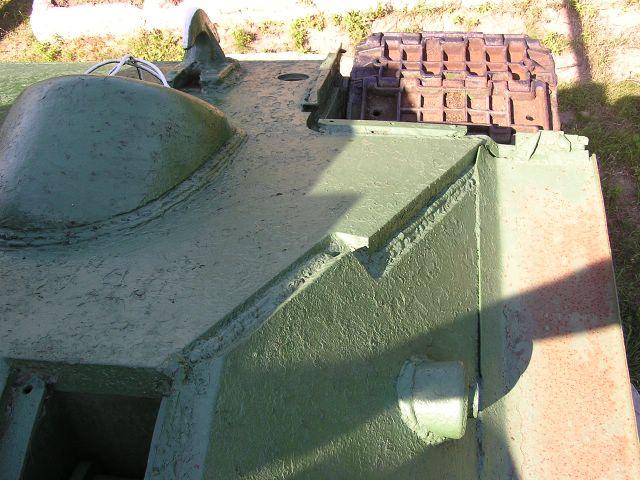 Вид сверху на правую-переднюю часть корпуса
