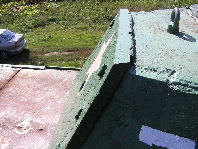 Задняя стенка башни в профиль