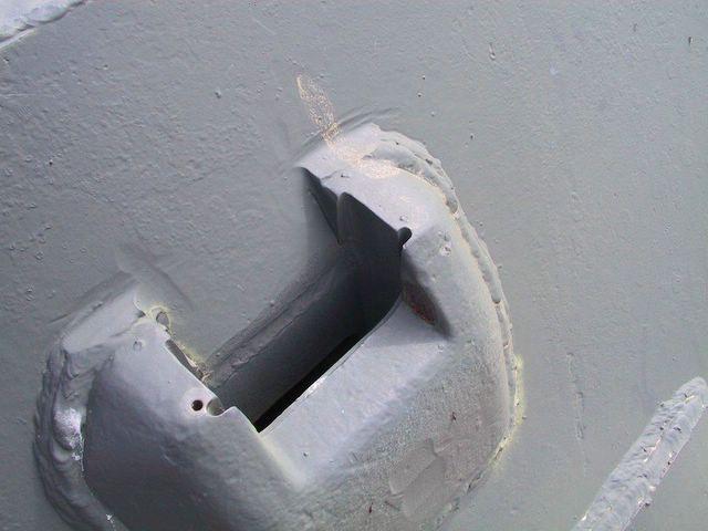 Бронировка смотрового прибора расположенного в борту башни