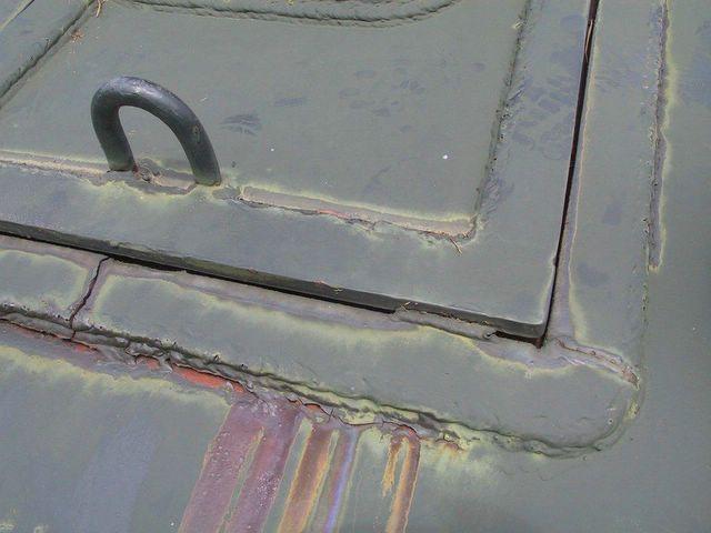 Защитные планки люка механика- водителя