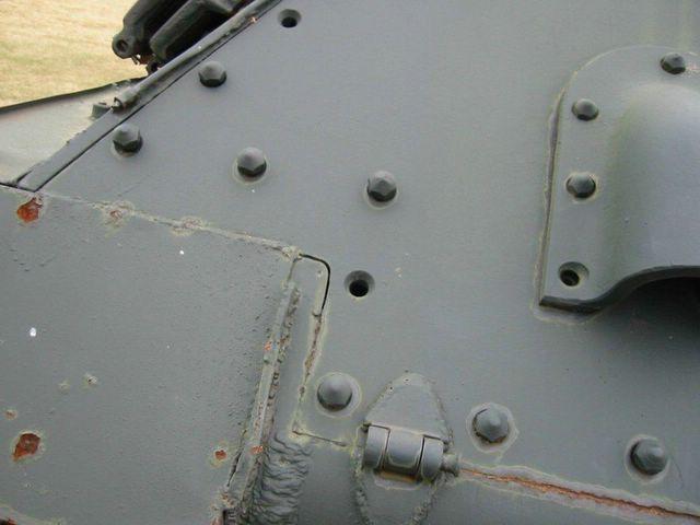 Пулестойкие головки болтов крепления откидного кормового листа