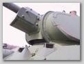 Вид спереди-снизу на переднюю часть башни и маску пушки