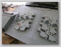 Стык нижнего и верхних наклонных листов корпуса танка