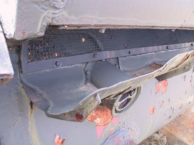 Фрагмент задней части корпуса танка
