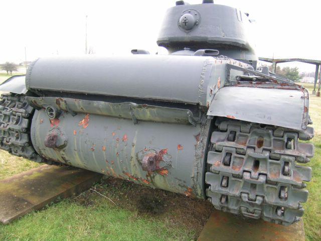 Вид сзади на танк КВ- 1