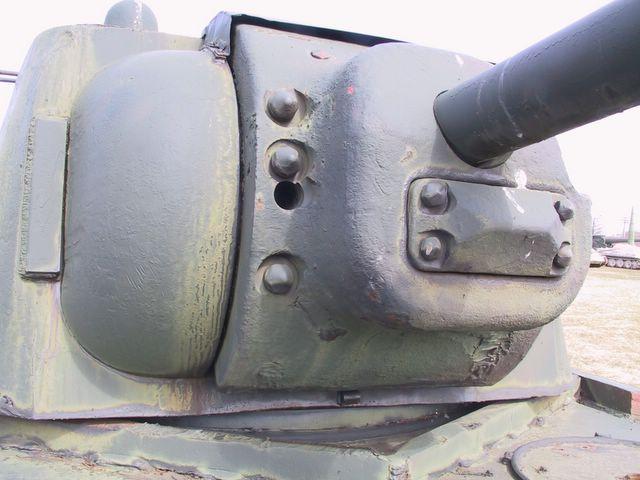 Маска орудия крупным планом