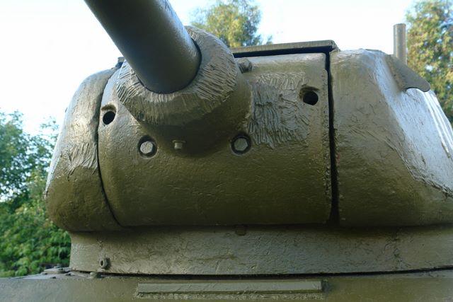 Маска орудия, вид слева-снизу