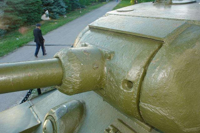 Маска орудия, вид слева-сверху