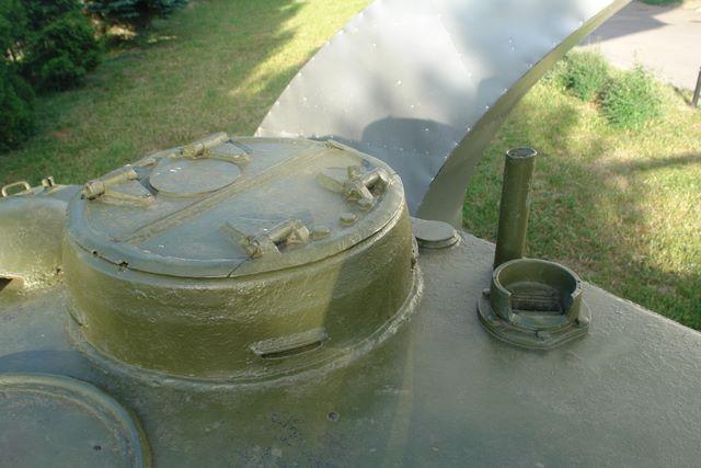 Командирской башенка, вид справа-спереди