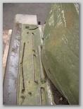 Передняя часть левого подкрылка танка