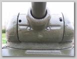 Маска орудия, вид спереди-снизу