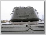 Вид сзади на башню танка