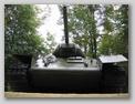 Вид на танк спереди крупным планом