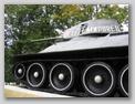 Вид слева на переднюю часть танка