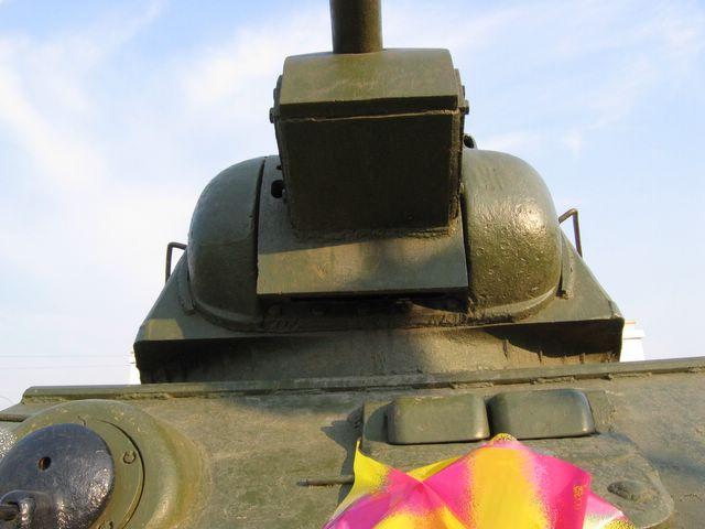 Вид на маску орудия снизу