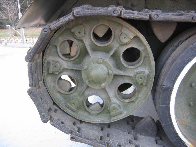Ведущее колесо крупным планом