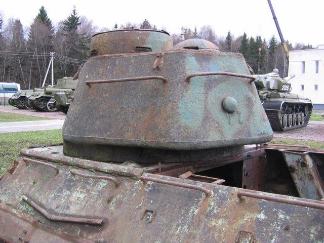 Башня танка, вид слева-сзади