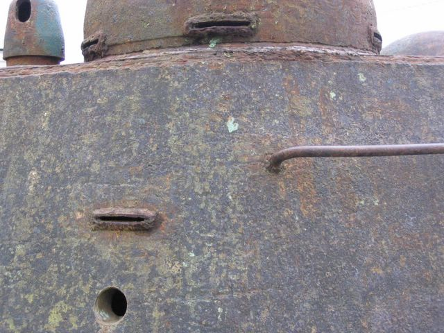 Фрагмент левого борта башни