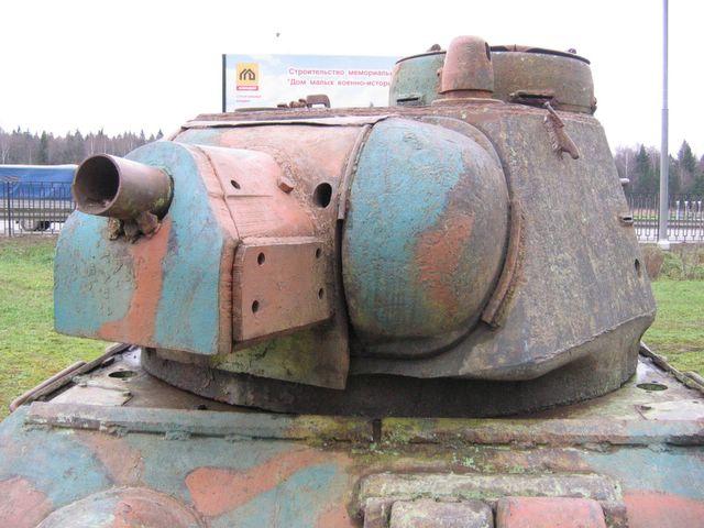 Маска орудия Ф-34, вид слева